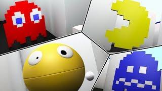 Pacman 2D in a 3D world