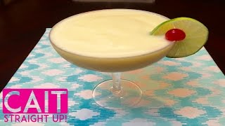 How To Make A Pina Colada | Frozen Cocktail Recipe | Cait Straight Up