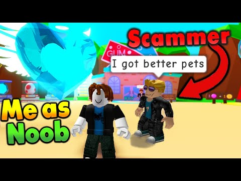 🙊I Scammed The Biggest Scammers in Roblox Bubble Gum Simulator (noob disguise)