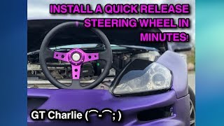 ★ HOW TO INSTALL ★ Aftermarket eBay Steering Wheel, Quick Release & Hub Adapter [2003 Eclipse]