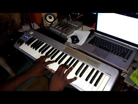 how to play Alagbara piano progression in the key of C Major