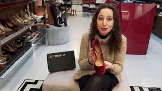 Vídeo Scarpin em Veludo Cecconello  Cor Grená