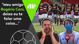 Repórter flamenguista é zoado e dá no meio após eliminação na Libertadores