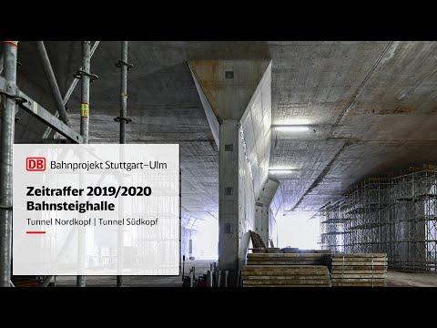 Tunnel Nordkopf und Südkopf des Stuttgarter Hauptbahnhofs  – Zeitrafferfilm 2019/2020