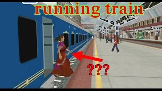 Passenger entering in running train