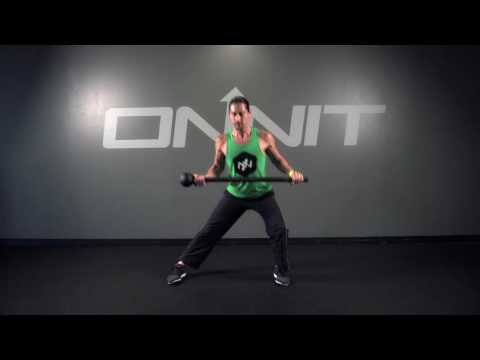 Static Lap Side Lunge Steel Mace Exercise