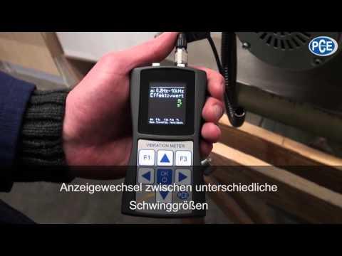 Anwendung Vibrationsmessgerät PCE-VM 25