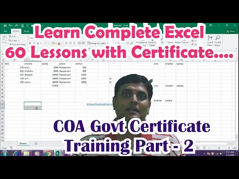 Learn Complete Microsoft Excel at very minimum fee | COA Training ...