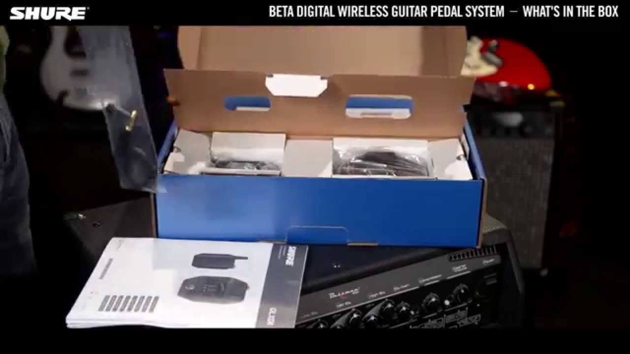 Shure Beta Digital Wireless Guitar System: Unboxing