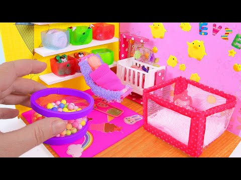 DIY Miniature Baby Playroom & Playpen, Ball Pit, Baby Potty