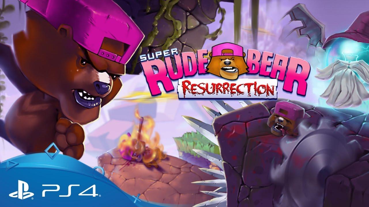 """""""Unglaublicher Hardcore-Plattformer"""" Super Rude Bear Resurrection erscheint am 2. Mai für PS4"""