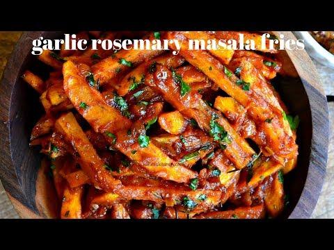 GARLIC ROSEMARY MASALA FRIES   HOW TO MAKE MASALA FRIES  KALUHI'S KITCHEN