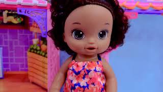 Детские Сюрпризы Для Слепых Мешков Для Покупок! Кассовый Аппарат + Детские Куклы