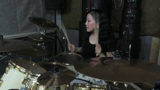"ARCH ENEMY ""Machtkampf"" drum cover by Fumie Abe"