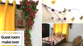 Guest Room Make Over|| Guest Room Decoration Ideas|| Zero Budget Room Makeover