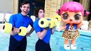 Игры трансформеры и куклы LOL — Видео в аквапарке — Акватим