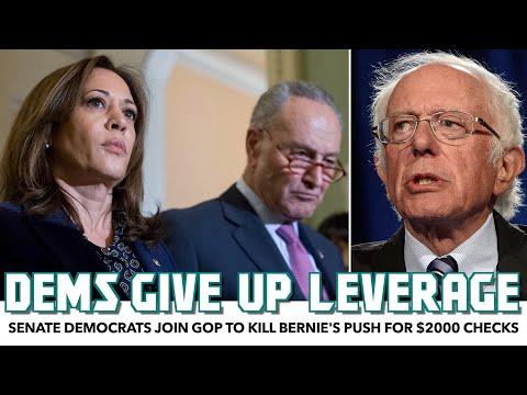 Senate Democrats Join GOP To Kill Bernie's Push For $2000 Checks
