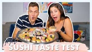XXL SUPERMARKT SUSHI MUKBANG   Wir testen Supermarkt Sushi   LIVE REAKTION
