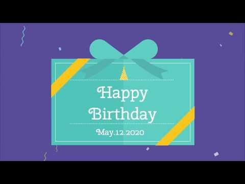 誕生日メッセージ動画を作成します スマホで送信できる誕生日カード代わりのムービー制作します イメージ1