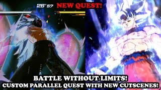 NEW CUSTOM PARALLEL QUEST WITH NEW CUTSCENES VS STRONGEST CaC Buuzer! XV2 Mods