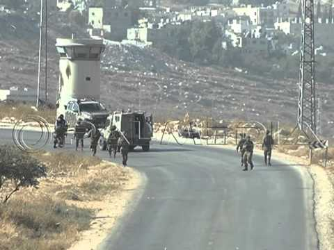 اعتداء قوات الاحتلال على الصحفيين في بيت فوريك 25 أيلول 2015