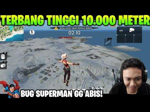 SERU PARAH! CARA TERBANG DI ATAS DENGAN BUG SUPERMAN TINGGI BANGET! - Garena Free Fire