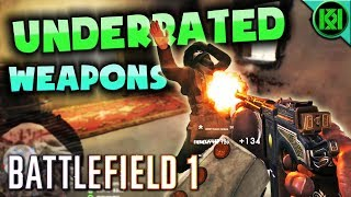 Battlefield 1: UNDERRATED WEAPONS   12 Underused Guns in BF1