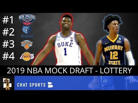 NBA Mock Draft 2019 Post-Lottery: New Orleans Drafts Zion Williamson, Memphis Takes Ja Morant