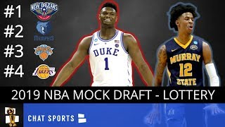NBA Mock Draft 2019 Post-Lottery: New Orleans Drafts Zion Williamson, Memphis Takes Ja Morant