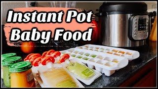 How To Make Baby Food At Home Using Instant Pot / Baby Food For 4-6 Month Olds