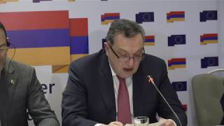 Joint press conference of Deputy Foreign Minister and EU officials