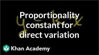 Proportionality Constant for Direct Variation