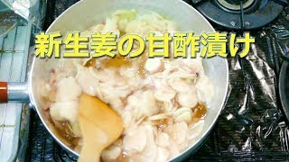 新生姜の甘酢漬け!ガリ!ですね