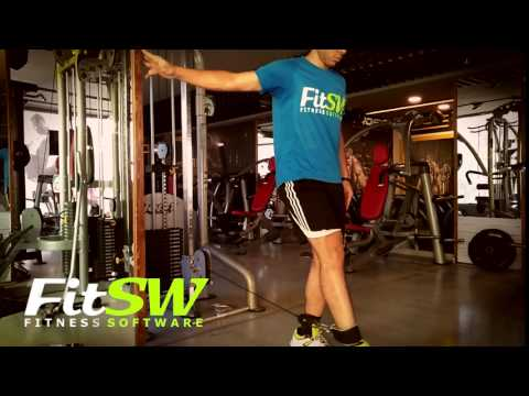 Cable Standing Leg Extension: Leg, Quad Exercise Demo How-to