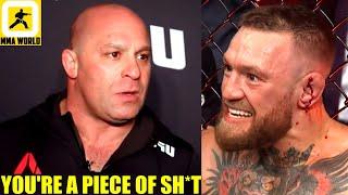 Matt Serra trashes 'DIRTBAG' Conor McGregor for attacking Dustin Poirier's wife in post fight speech