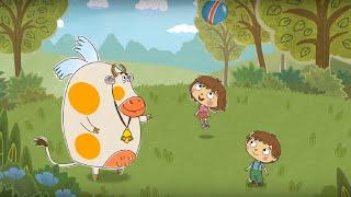 Малыши и Летающие Звери - Мячик - Короткие развивающие мультики для детей
