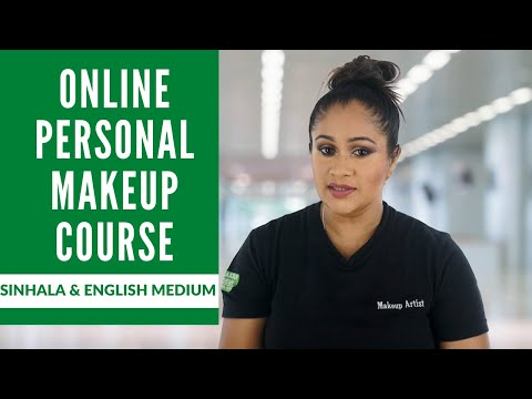 Online Personal Makeup Course for beginners- Sinhala & English Medium Classes