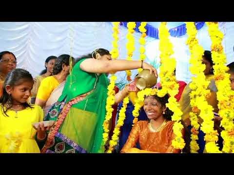 Traditional Hindu Haldi..Sari