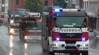 preview picture of video '[Einsatzfahrt im Regen] Löschzug + GW-Atemschutz + RTW BF Aachen FW 1 (HD)'