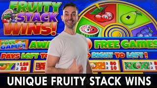 Super UNIQUE Fruity Stack WINS 🍏🍊 Choctaw Casino 🍎🍇 Durant Oklahoma 🍓 #ad