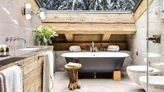 48 Rustic Bathroom Design / Contemporary Bathrooms With Rustic Charm