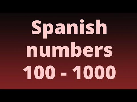 Spanish Numbers 100-1000