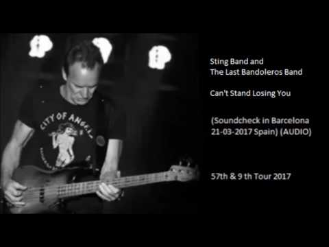 STING BAND and THE LAST BANDOLEROS BAND - Can't Stand Losing You (Barcelona Soundcheck 21-03-2017)