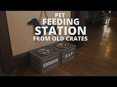 Make Your Own Pet Feeding Station - DIY Network