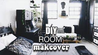 DIY Extreme Bedroom Makeover | White Black Gold |