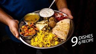 वेज थाली की टेस्टी आसान रेसिपी - lunch daily use veg thali recipes - cookingshooking