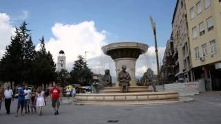 アキーラさん訪問②旧ユーゴスラビア・マケドニア・スコピエ・マケドニア広場・Macedonian-square,Skopje,Macedonia