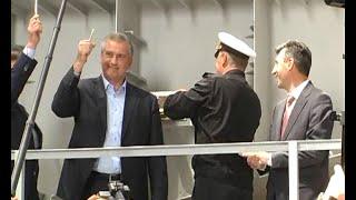 На заводе «Море» прошла торжественная церемония закладки современного ракетного корабля