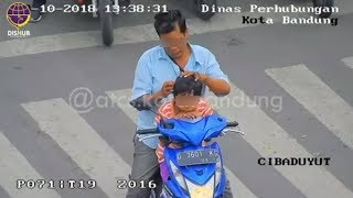 Video Viral Pemotor Malah Cari Kutu saat Ditegur Petugas ATCS karena Bawa Anak Kecil Tanpa Helm