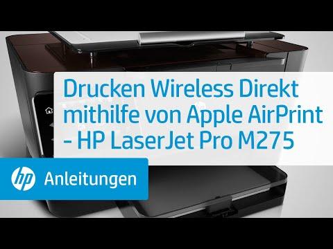 Drucken Wireless Direkt mithilfe von Apple AirPrint - HP LaserJet Pro M275